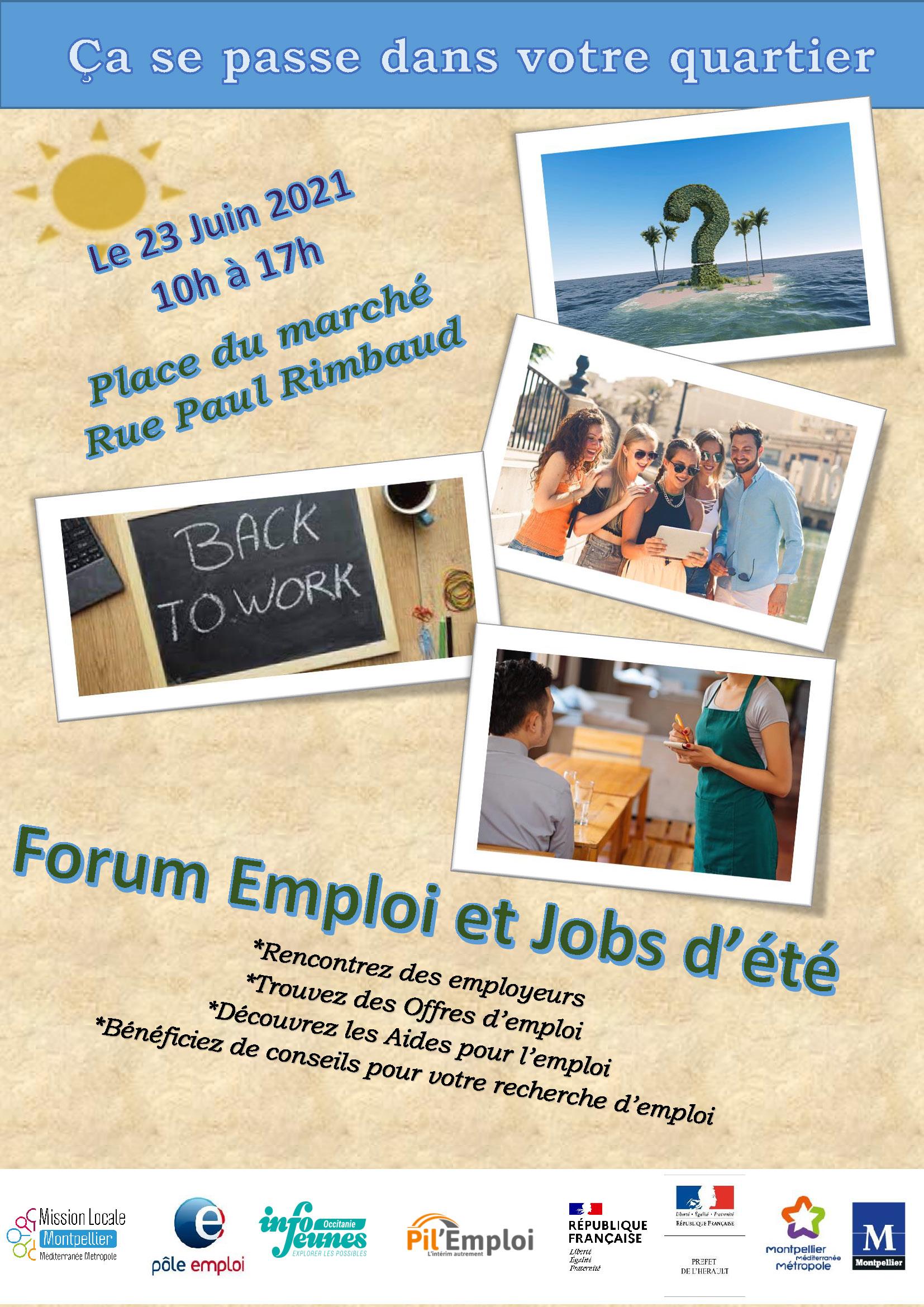 Journée emploi et job d'été au quartier du Petit Bard à Montpellier